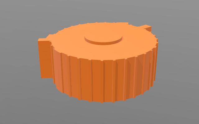 Obrázek modelu auly Gong, který byl vyhotovený na základě dat získaných z OpenStreetMap