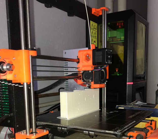 Tisk hvězdokupy M45 na FFF 3D tiskárně.