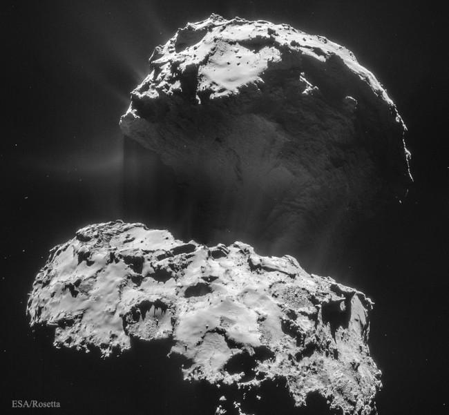 Utváření prachového ohonu komety CG - bližší popis hned za touto fotografií