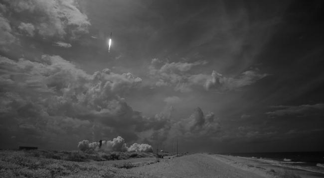 Start SpaceX Demo-2 - bližší popis hned za touto fotografií