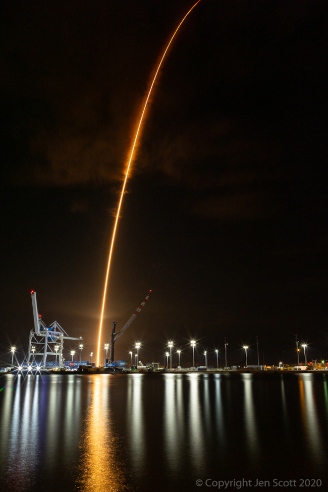 Odlet rakety Crew 1 - bližší popis hned za touto fotografií