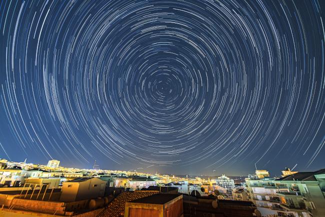 Stopy hvězd nad Ragusou - bližší popis hned za touto fotografií